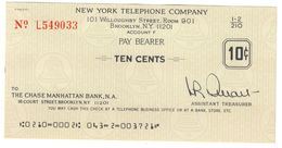 USA New York Telephone Company 10 Cents UNC - Other