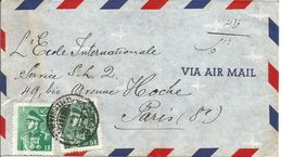 Iran. Eveloppe Par Avion Téhéran Pour Paris En 1954 - Iran