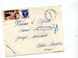 Lettre  Pneumatique Cachet Paris 83 Sue Porcelaine - Marcophilie (Lettres)