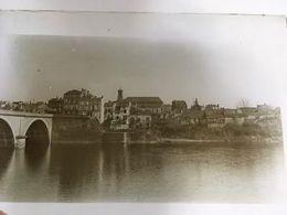 Plaque De Verre, Bergerac - 24 - Dordogne, Le Vieux Pont, Quartier De La Madeleine, Secteur Barbacane, - Diapositivas De Vidrio