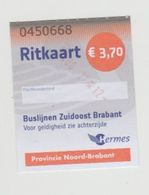 Ticket Bus Ritkaart Buslijnen Zuidoost Brabant Hermes Nederland (NL) - Unclassified