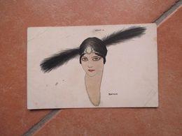 1915 Donnine Woman Illustratore BIANCHI Due Piume Viaggiata Affrancata - Non Classificati