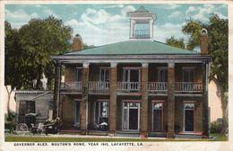 GOVERNOR ALEX . MOUTON'S HOME ,YEAR 1843 , LAFAYETTE , LA - Sonstige