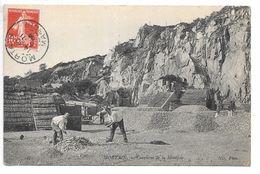 Cpa...Mortain..(manche)...carrière De La Montjoie...animée...1909... - Autres Communes