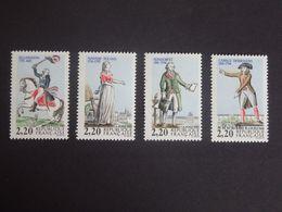 N°2592-2593-2594-2595 LUXE** - Personnages De La Révolution, Bicentenaire - 2f20x4 - Gomme D'origine - Issu Du Bloc BF10 - Unused Stamps