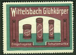"""München Bayern 1913 """" Wittelsbach Glühkörper """" Vignette Cinderella Reklamemarke - Erinofilia"""