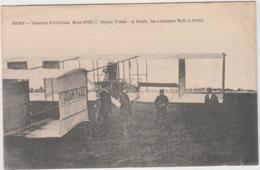 NIORT DEUX SEVRES SEMAINE DE L'AVIATION MARS 1910 BIPLAN VOISIN A DROITE LES AVIATEURS NOEL ET BELLOT TBE - Meetings