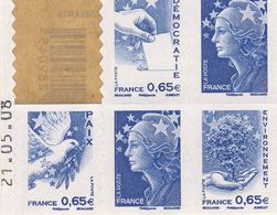 BC 1517 Avec DATE  Partiel De 5 TP  NEUF **  ANNEE 2008 - 2008-13 Marianne De Beaujard