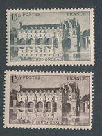 N-906: FRANCE: Lot Avec   N° 610c** Signé Brun + N°610* Pour Comparatif - Variétés Et Curiosités