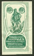"Kassel ? ~1913 "" Herkules Annäh-Druckknopf "" Jugendstil Vignette Cinderella Reklamemarke - Erinofilia"