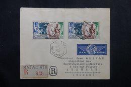 WALLIS ET FUTUNA - Enveloppe En Recommandé De Mata Utu Pour Auxerre En 1950, Affranchissement UPU - L 63076 - Covers & Documents