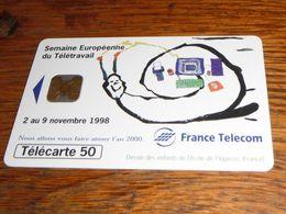 Carte Téléphonique France Telecom 1998 Semaine Européenne Du Télétravail Escargot - Opérateurs Télécom