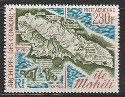 COMORES - PA N°67 ** (1975) Carte - Luftpost