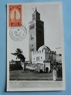 MARRAKECH -- XXV° Foire Exposition Marrakech - 29-4 Au 8-5-1950 -- Lot 2 Cartes FDC Oblitération Du 29-4er Jour - Maroc (1956-...)