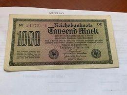 Germany 1000 Marks Banknote 1922 #1 - [ 3] 1918-1933 : Repubblica  Di Weimar