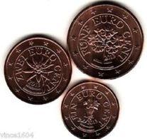 Oostenrijk 2020   1-2-5 Cent   (miniset)   UNC Uit De Rol  UNC Du Rouleaux  !! - Autriche