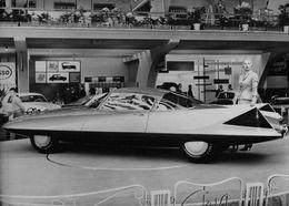 Plymouth GHIA Asimmetrica Roadster, Prototype Présenté Au Salon De TURIN 1955 Photo Originale AGIP Robert Cohen. - Cars