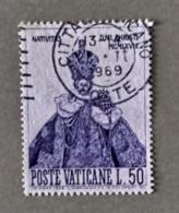 1968 - VATICANO -  NATALE  - VALORE LIRE 50 - SINGOLO - USATO - Vatican