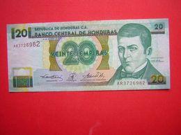 1 BILLET  BANCO CENTRAL DE HONDURAS 20 VEINTE LEMPIRA   30 DE AGOSTO DE 2001 - Honduras