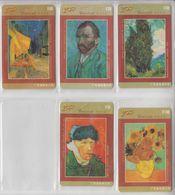 CHINA 2003 ART VINCENT VAN GOGH SET OF 5 PHONE CARDS - Malerei