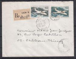 FRANCE - N°PA 39b - M.S. 760 PARIS - Bleu Unicolore Sur Lettre Recommandée. - 1960-.... Brieven & Documenten