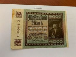 Germany 5000 Marks  Banknote 1922 #2 - 5000 Mark