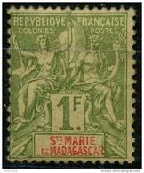 Sainte Marie De Madagascar (1894) N 13 * (charniere) - Unused Stamps