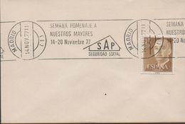 3521   Carta  Madrid 1977 Semana Homenaje A  Nuestros Mayores, SAP, Seguridad Social - 1931-Hoy: 2ª República - ... Juan Carlos I