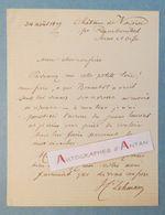 L.A.S 1879 Henri LEHMANN Peintre - Château De Voisin (Rambouillet) - Bramtôt - Né à Kiel En Allemagne Lettre Autographe - Autographes