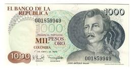 Colombia 1000 Pesos Oro 01/04/1979 UNC/SC - Colombia