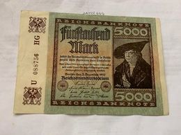 Germany 1000 Marks Banknote 1922 #3 - [ 3] 1918-1933 : Repubblica  Di Weimar