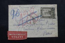 BELGIQUE - Enveloppe En Exprès Pour Paris En 1934, Affranchissement Plaisant Exprès - L 63100 - België