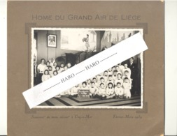 Photo Sur Carton - Souvenir D'un Séjour à DE HAAN / COQ Sur MER En 1939 - Home Du Grand Air De Liège ( B276) - Lieux
