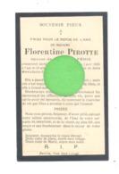 Faire-part De Décès De Mde Florentine PIROTTE ép. De J. Férir - GOCHENEE - FORVILLE 1926 - Todesanzeige