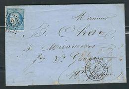 FRANCE 1872 N° 60 Obl. S/lettre GC 3524 Saint Benoit Du Sault - 1871-1875 Ceres