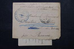FRANCE - Enveloppe + Contenu En Fm De Hôpital Militaire 148 Bis De St Paul Trois Châteaux En 1917 Pour Roanne - L 63106 - Storia Postale