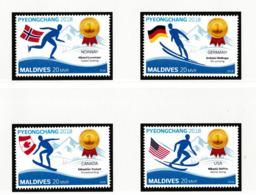 Maldives 2018 Olympic Games PyeongChang Four Stamps MNH/** (H59) - Winter 2018: Pyeongchang