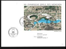 Germany FDC 1972 Olympic Games München Souvenir Sheet From Bonn (LAR9-116) - Sommer 1972: München