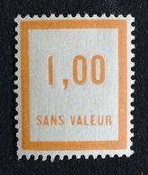 France Fictif N° F37 N* Gomme D'origine, TTB. Cote 2020 : 2,40 €. Voir Photos Recto Verso ! - Fictifs