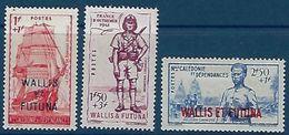 "Wallis YT 87 à 89  "" Défense De L'Empire "" 1941 Neuf* - Wallis-Et-Futuna"