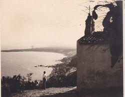 ITALIE TAORMINA TAORMINE Descente Sur Giardini 1926 Photo Amateur Format Environ 11 Cm X 8,5 Cm - Lieux