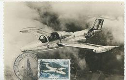 MORANE SAULNIER 300f. (Yvert Poste Aérienne N°35)  Carte Maximum - 1950-59