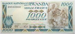 Rwanda - 1000 Francs - 1988 - PICK 21a - NEUF - Rwanda