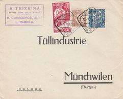 Portugal Lettre Pour La Suisse 1938 - Lettres & Documents
