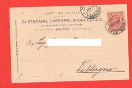 Milano 1911 Ditta Costruzioni Civili Industriali Di Stefano Gasparri Mignucci & C. Viaggiata Per Valdagno 1911 - Trade