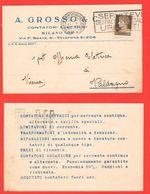 Milano A. Grosso & C. Contatori Elettrici Elettricità Cartoline Commerciali Per Valdagno - Trade