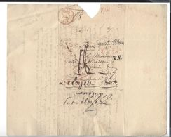 WARSZAWA STRZALKOWO -  - 1821 Pour Paris - Poland