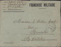 Guerre 14 Enveloppe En FM Librairie Campistro Perpignan CAD Trésor Et Postes Secteur Postal 140 11 1 1915 - Guerre De 1914-18
