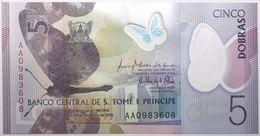 Sao Tome Et Principe - 5 Dobras - 2016 - PICK 70a - NEUF - Sao Tomé Et Principe