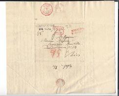 WARSZAWA STRZALKOWO -  - 1825  Pour Paris - Poland